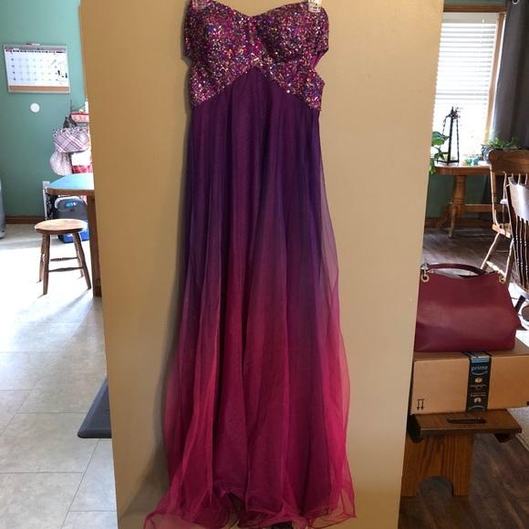 Blondie Nites Dresses Purplepink Ombr Prom Dress Poshmark